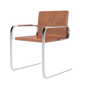 pole leather chair 3D