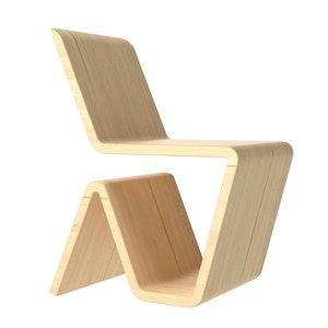 3D wooden dicut chair