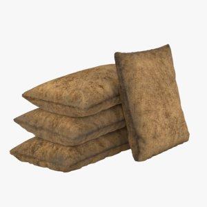 sandbags sand bag 3D model
