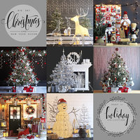 Big set of Christmas and New Year decorations  - Part 2