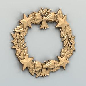 3D model cnc decorative wreath