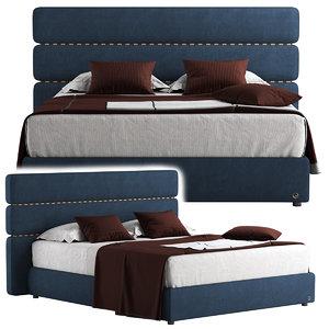 3D bed fendi model