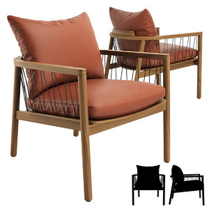 kerry lounge chair 3D model