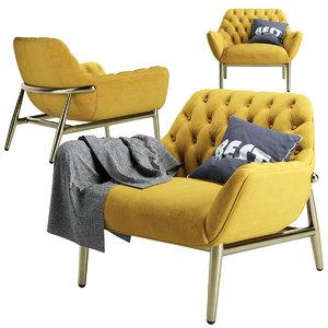 armchair jade chair 3D model