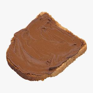 3D toast dark chocolate 01