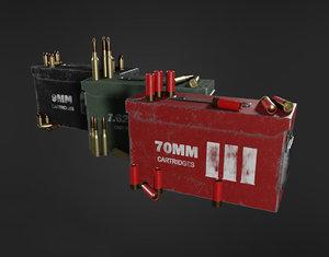 3D military supplies pack -
