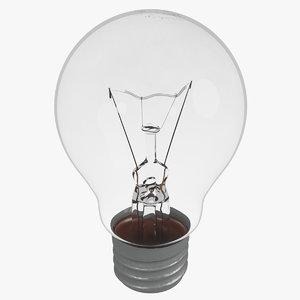 3D old spot light bulb