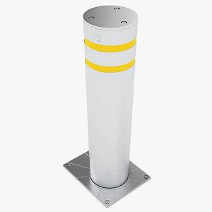 3D model security bollard