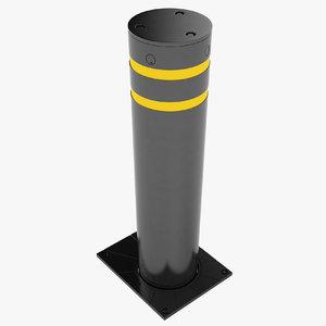 security bollard 3D model