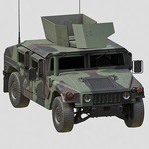 3D humvee m1151a1 model