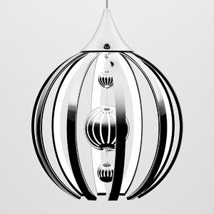 3D light chandelier model