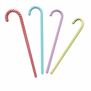 3D christmas candy cane model