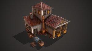 3D ancient bakery