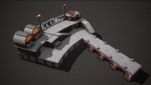 3D model ancient port