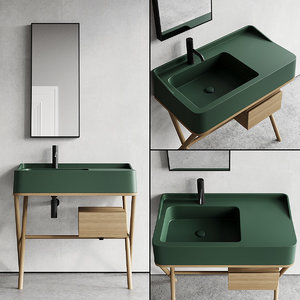 3D vanity siwa washbasin model