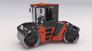 compactor roller road 3D model