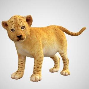 baby lion tiger 3D