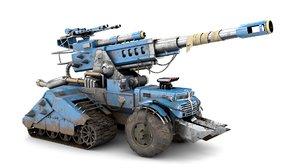 3D futuristic military vehicle