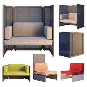 coalesse lagunitas - lounge chair 3D model