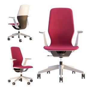 3D steelcase silq office chair