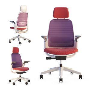 3D model steelcase series1 office chair