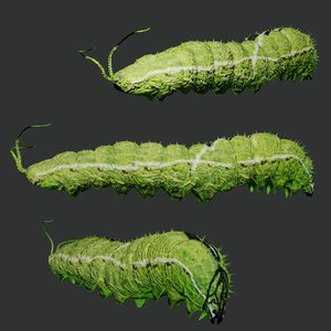 3D caterpillar rigged
