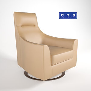 rebecca chair cts salotti 3D model