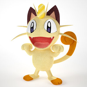 meowth pokemon 3D model