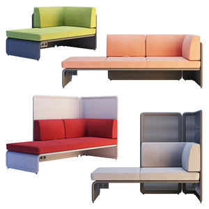 3D coalesse lagunitas lounge corner sofa