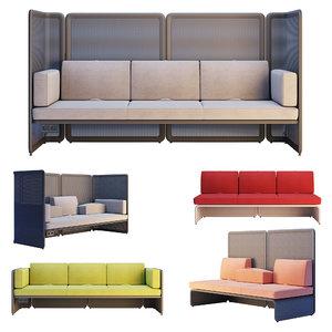 coalesse lagunitas - lounge 3D model