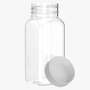 plastic square bottle 4oz model