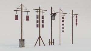 3D light pillars model