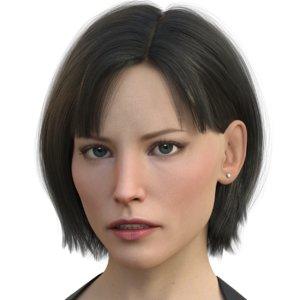 3D hair jill