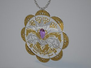 3D jewelry necklace model