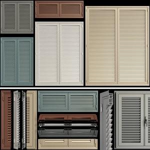 shutter windows doors 3D model