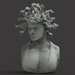 medusa bust model