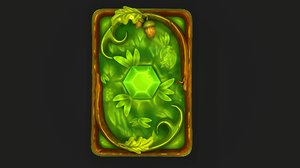 3D stylized nature card
