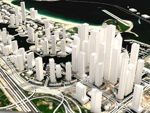 dubai marina united arab 3D