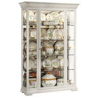 Classical display cabinet with porcelain table service
