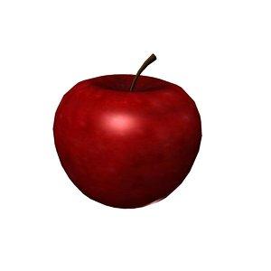 apple food fruit 3D model