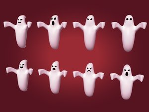 3D ghost cartoon