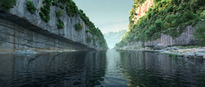 3D river