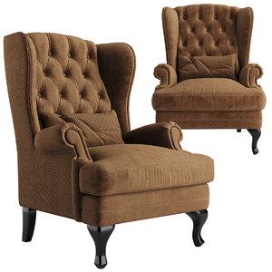 3D chair manchester armchair