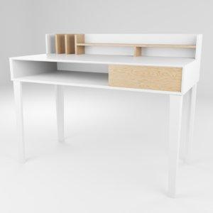 3D modern office desk