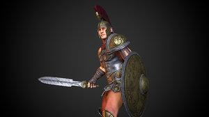3D gladiator animation armor