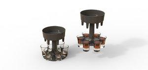 drink refill dispenser 3D model