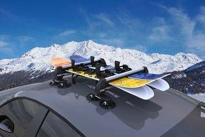 skies snowboard 3D