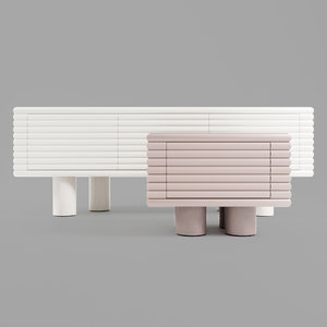 3D scala sideboard chest drawers