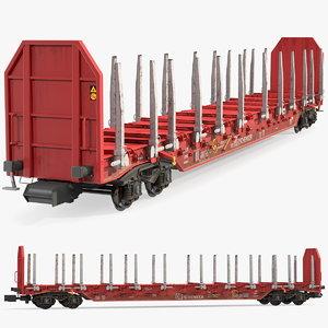 rnoos 644 stake wagon 3D model