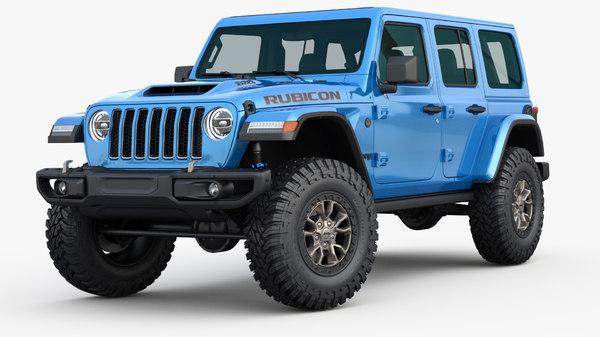 3D model jeep wrangler rubicon 392